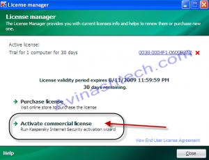 Kaspersky Activate license
