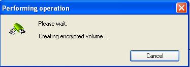 Creating encryption volume