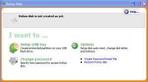 Rohos Disk startupscreen