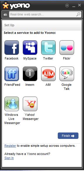 Yoono social network