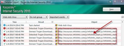 Infolinks got Infected? Kaspersky thinks so 2