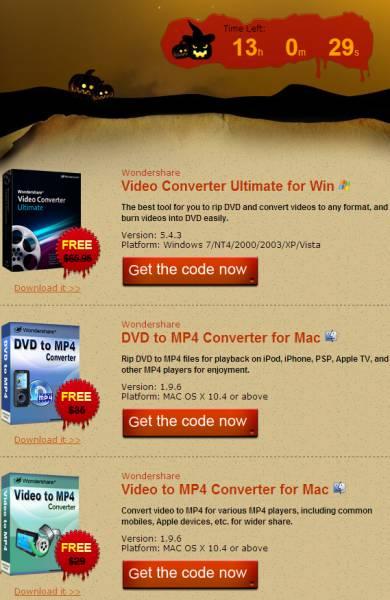 Grab Wondershare Video Convertor Ultimate, MP4 Convertor License for Free 1