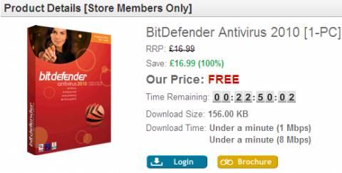Grab BitDefender Antivirus 2010 for FREE for 24 hours! again 2
