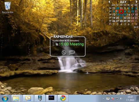 Rainlender: Customisable Calender with events and tasks on Desktop 1