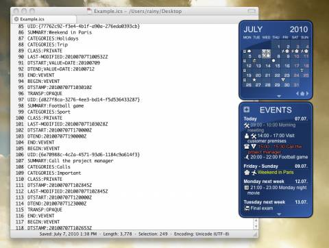 Rainlender: Customisable Calender with events and tasks on Desktop 2