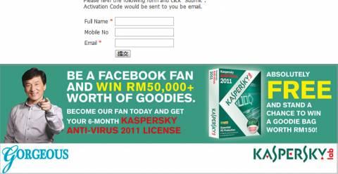 Free Kaspersky Antivirus 2011 license key for 6 months 1
