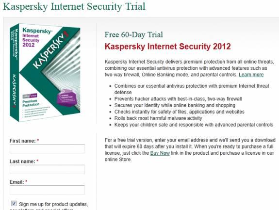 Grab Kaspersky Internet Security 2012 license key for 60 days 3