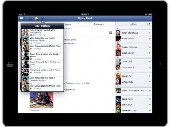 Facebook launches Facebook for iPad App finally 3