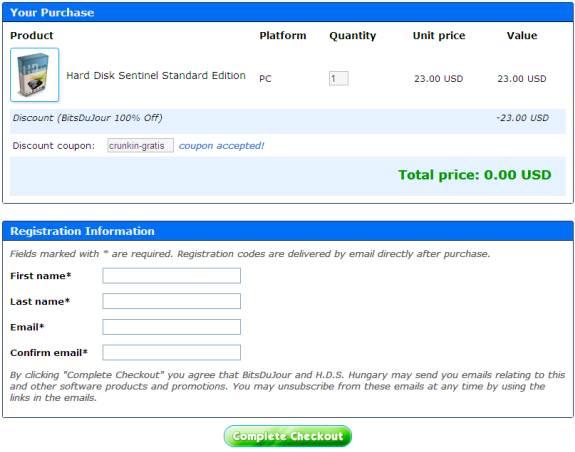 Get Hard Disk Sentinel Standard Edition lifetime license for FREE 3