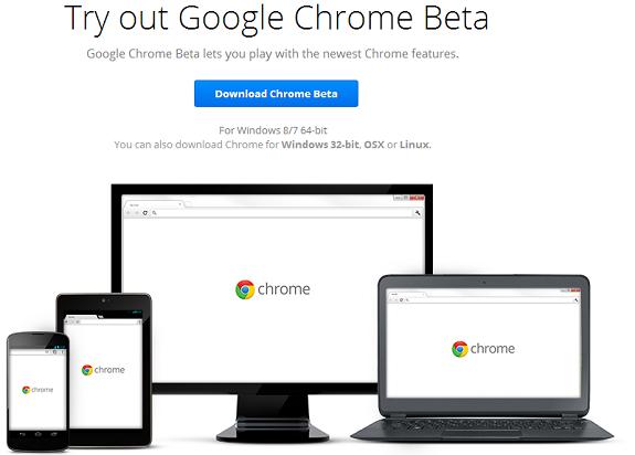 Google Chrome 64 Bit Beta