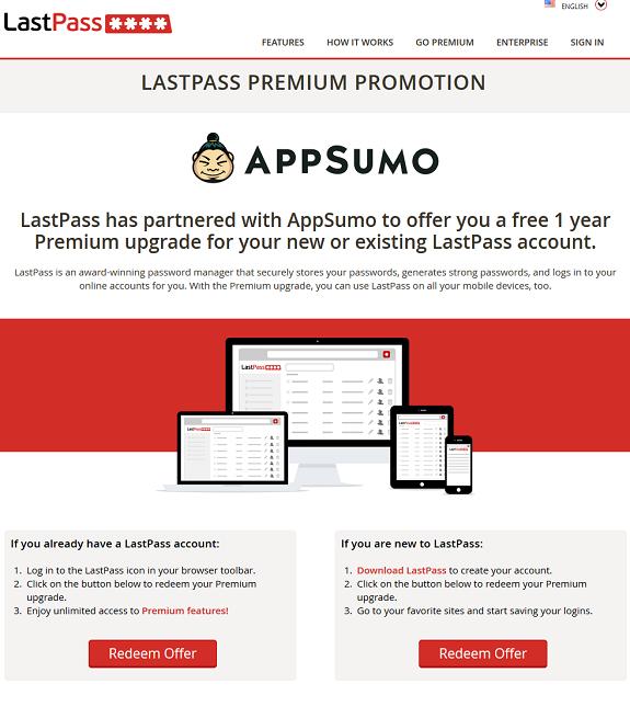 LastPass AppSumo Promo Offer
