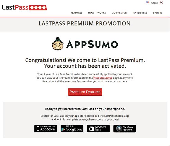 LastPass AppSumo Promo Success